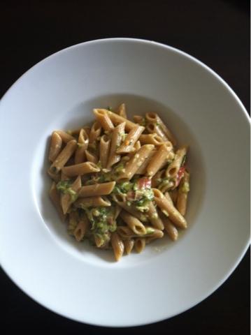 Käse-Zucchini-Rigatoni