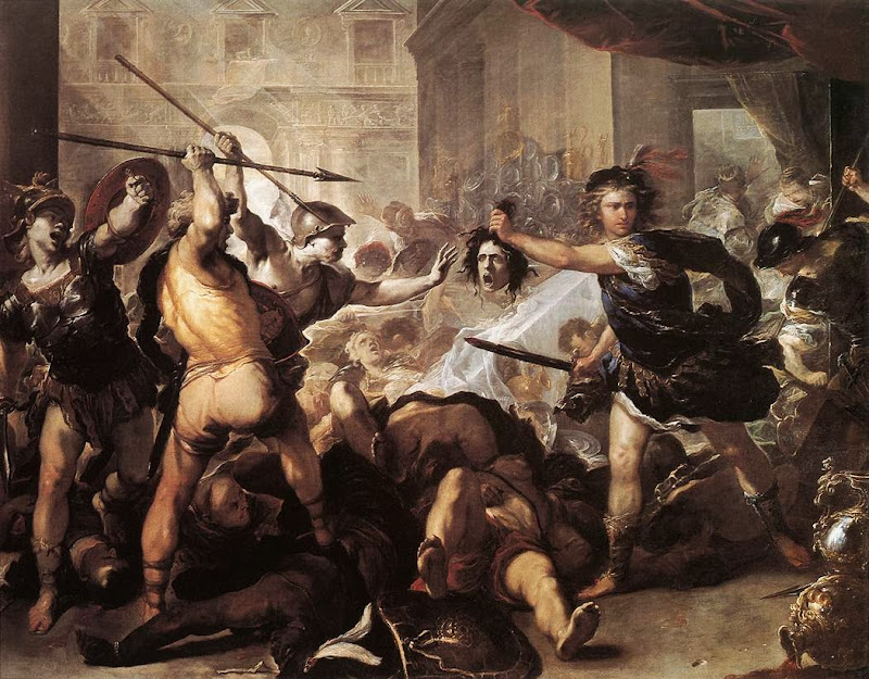 Luca Giordano - Perseus Fighting Phineus and his Companions, c. 1670
