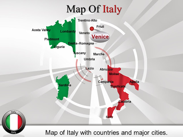 Itally Map PPT