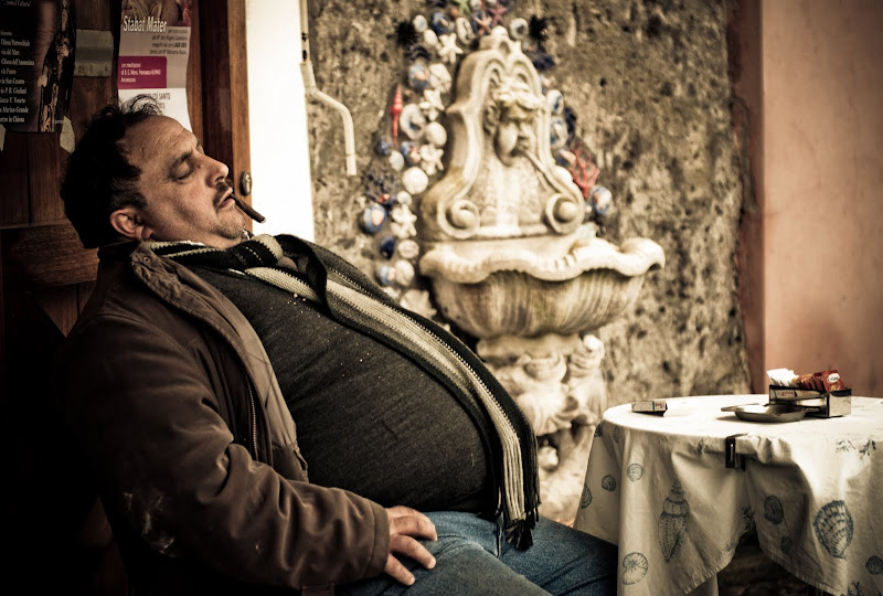 Włochy 2013 -- miejscowi..