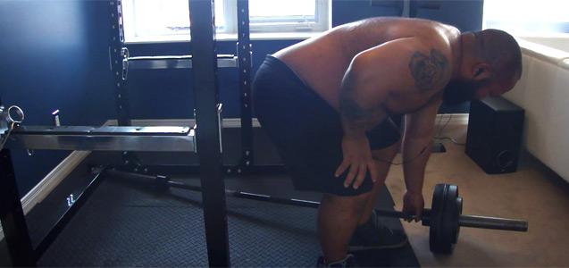 Big Powerlifter Training Back