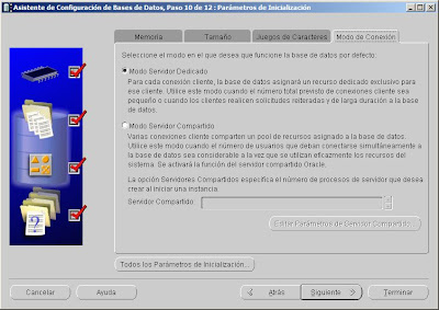Crear base de datos en Oracle 10g 10.2.0.5.0 x64 y Windows Server 2008 x64