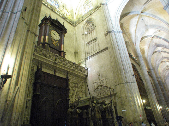 Tomb of Christopher Columbus inside the Catedral de Sevilla, Seville, Spain