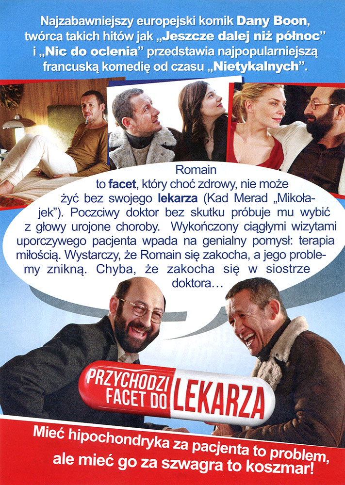 Ulotka filmu 'Przychodzi Facet Do Lekarza (tył)'