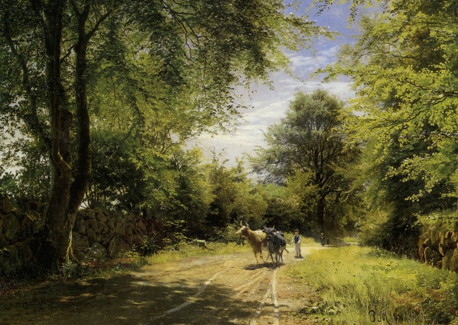 Peder Mork Monsted - The Young Cowherd
