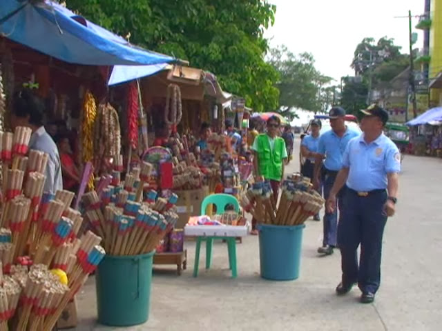 Inspection of Dumaguete City firecracker zone