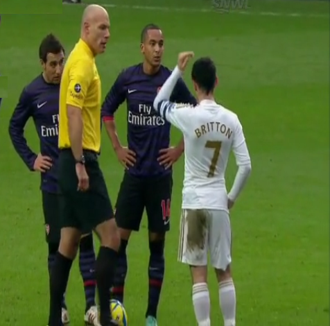 Theo Walcott, Swansea - Arsenal