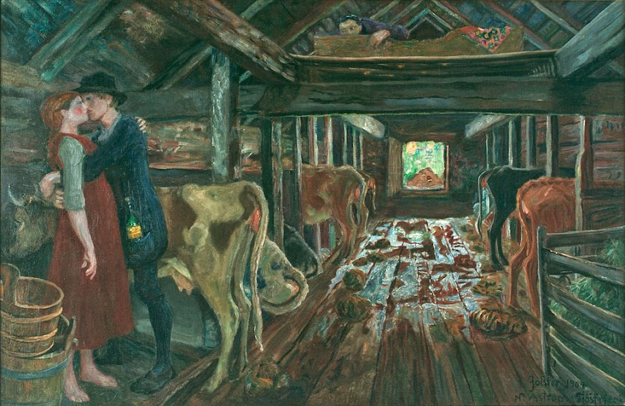 Nikolai Astrup - Cowshed Courting