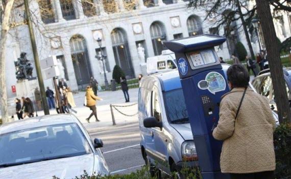 Los parquímetros de Madrid