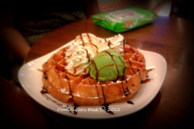 Waffle with Green Tea Ice-Cream