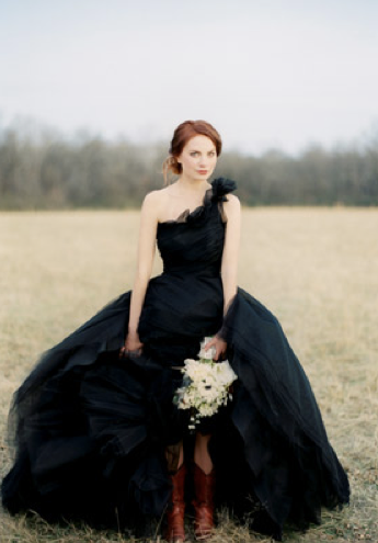 Black wedding dress wedding dress for Images of black wedding dresses