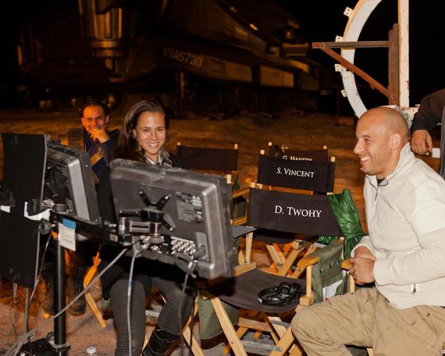 Riddick behind the scenes Vin Diesel