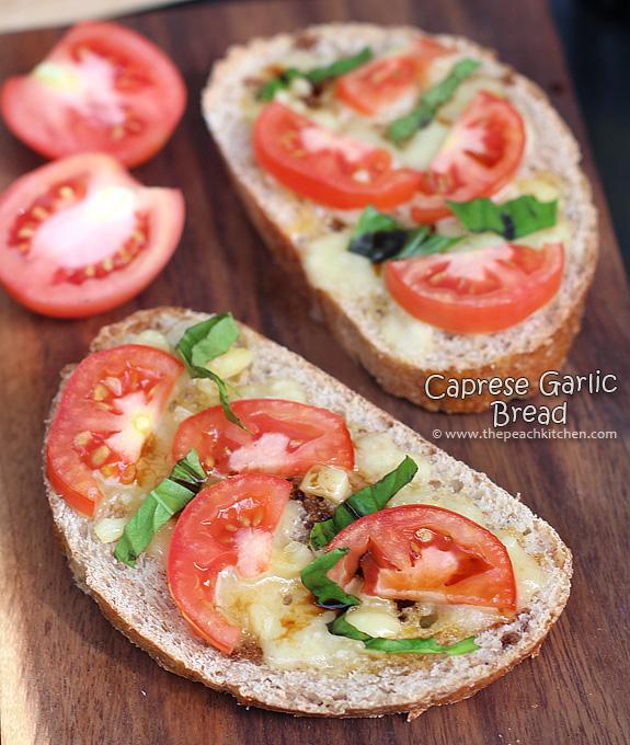 Caprese Garlic Bread | www.thepeachkitchen.com