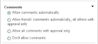Comments settings on YouTube