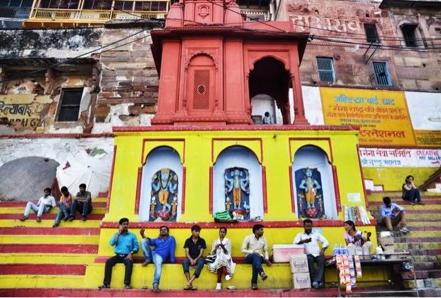 Varanasi Ganges Man Food Street Photography ghat