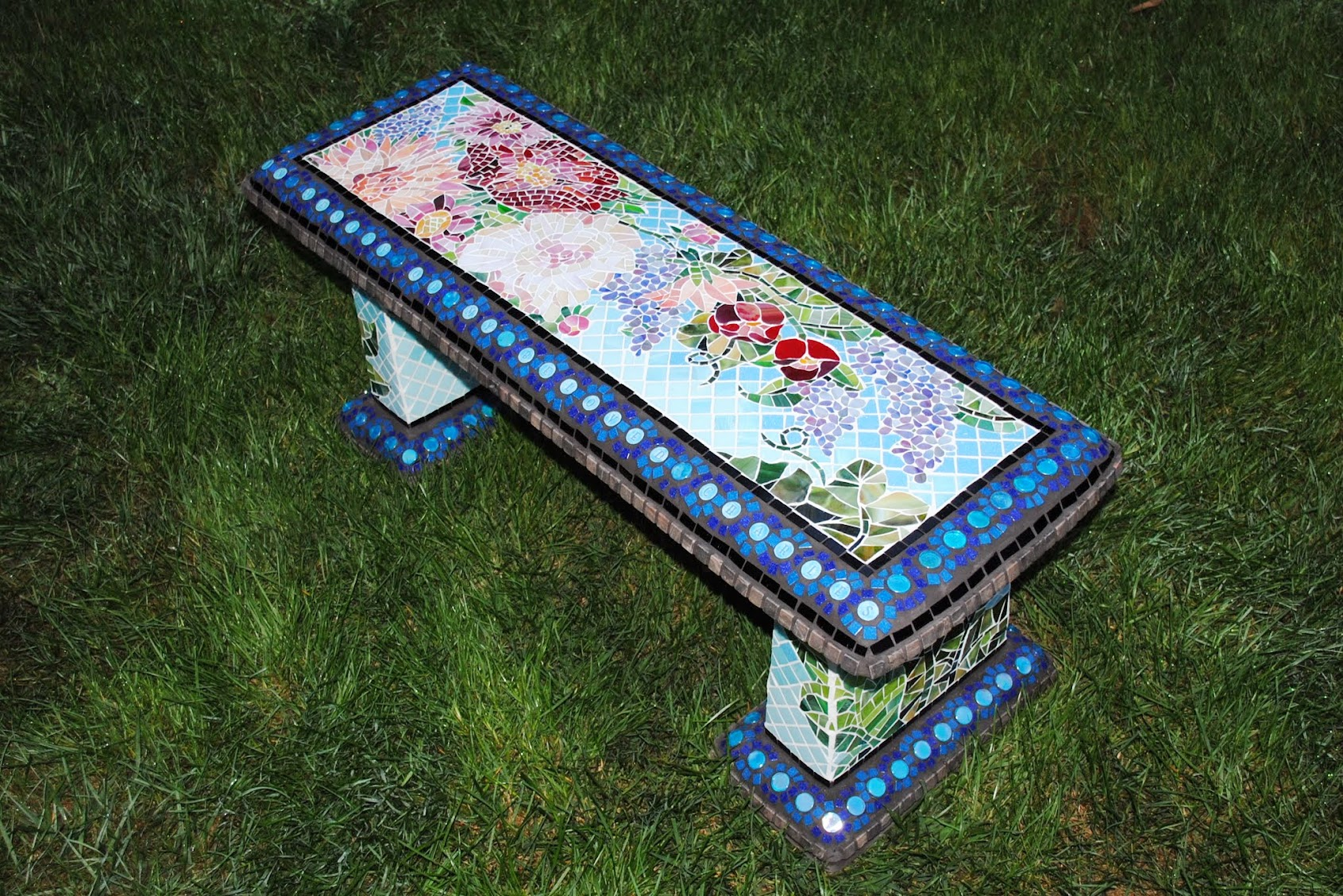 Cool Mosaic Garden Benches Beads Pieces Ibusinesslaw Wood Chair Design Ideas Ibusinesslaworg