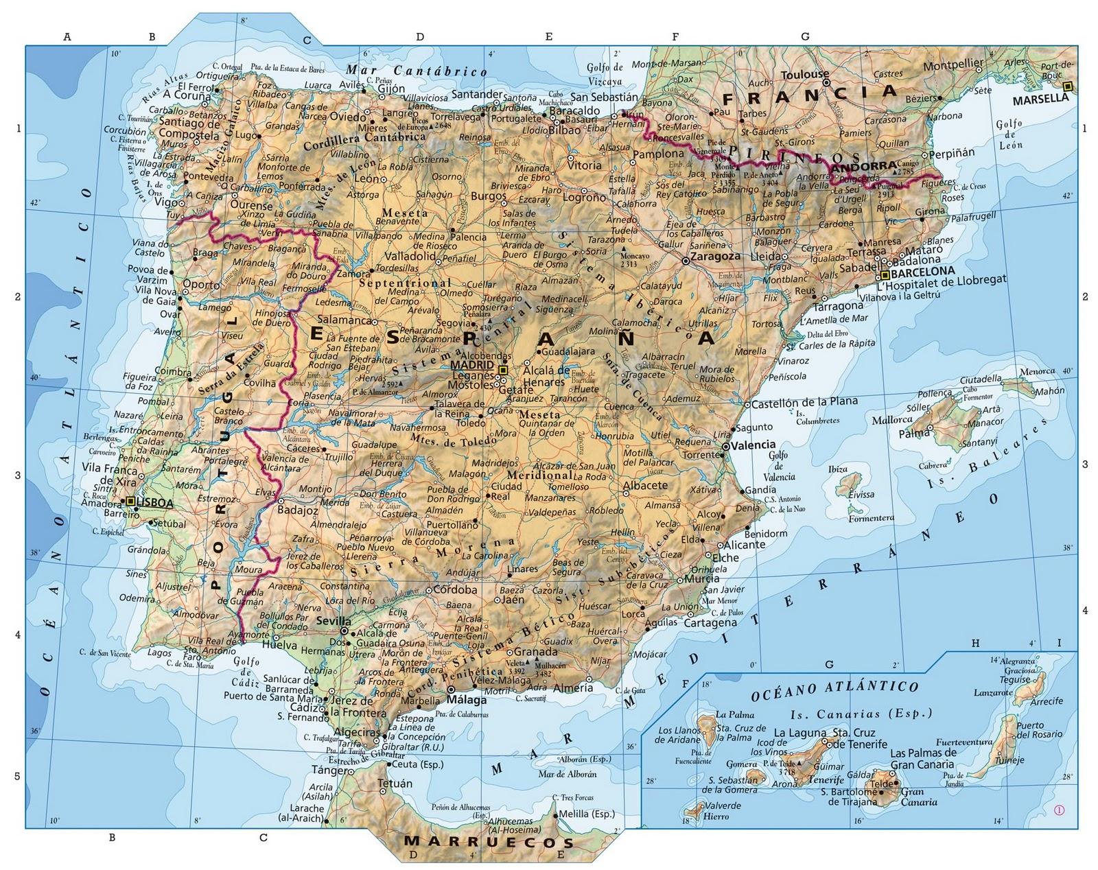 Mapa De España Completo | My blog