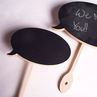 Word bubble chalkboards