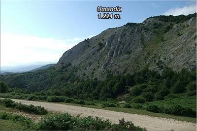 Cara sur de Umandia visto desde el collado herboso
