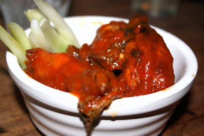 Smoked hot wings at Pitt Cue restaurant in London England