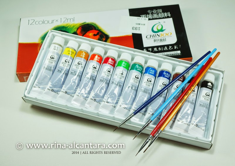 Acrylic Paints and Nail Art Brushes Set from Born Pretty | Simply Rins
