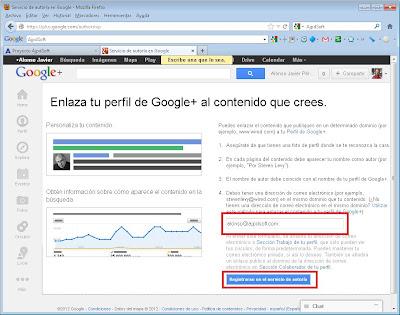 Vincular autor de Google a dominio