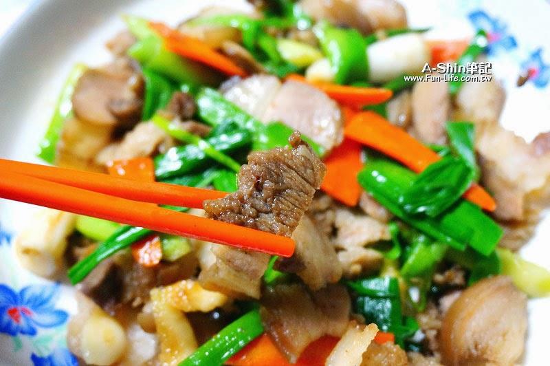 蒜苗炒鹹豬肉-7