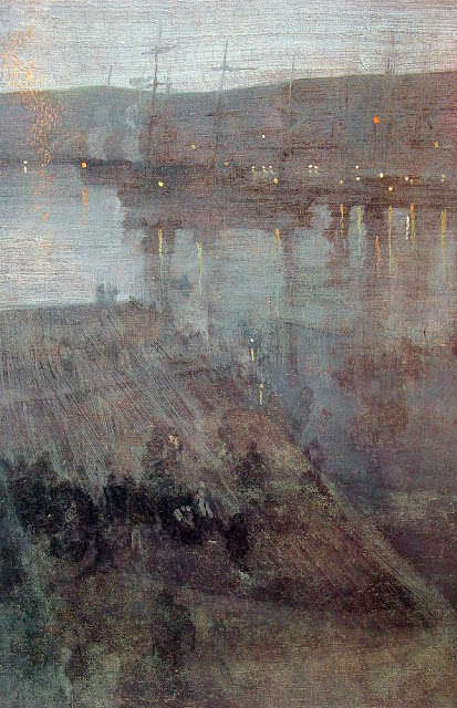 James Abbott McNeill Whistler - Nocturne in Blue and Gold. Valparaiso Bay