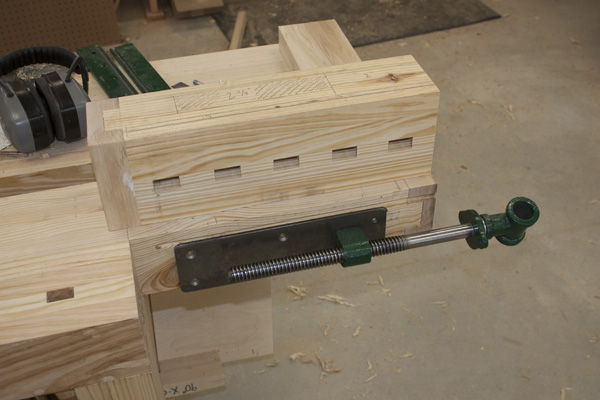 The drill press and I spent some quality time boring out the recesses ...