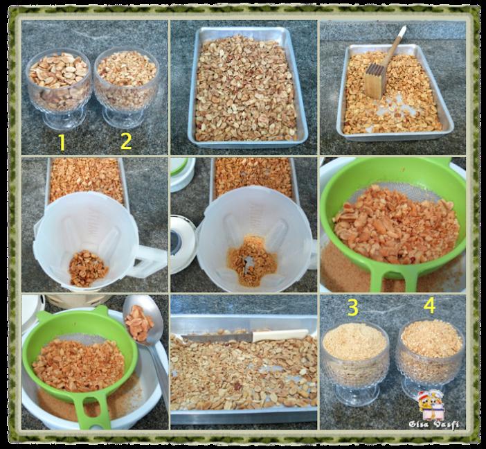 Bolo de amendoim com ganache 3