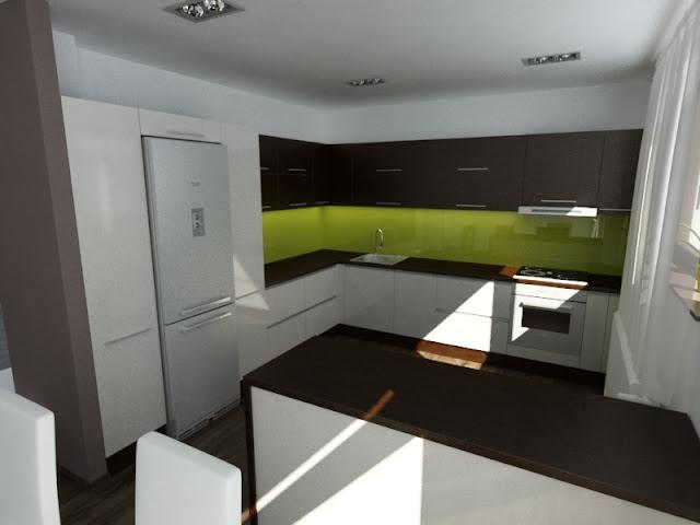 design bucatarie verde