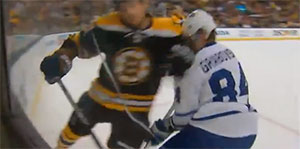 Andrew Ference suspended for one game for his elbow to the head of Leafs Mikhail Grabovski
