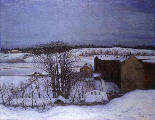 Karl Nordström - Vinterafton vid Roslagstull