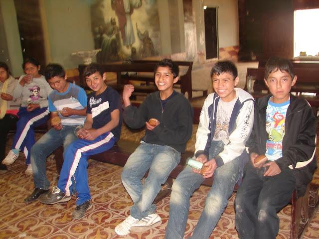 Jóvenes en Yamobamba