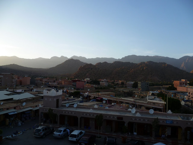 Tafraoute at sunset