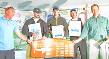 J/24 NA Champion- John Mollicone and team- Tim Healy on left