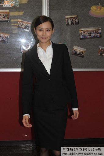 陳法拉為劇集《傳愛事務所》拍台慶巡禮宣傳片。