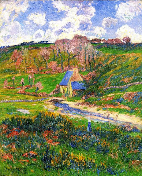 Henry Moret - Bretons on the Banks of a River