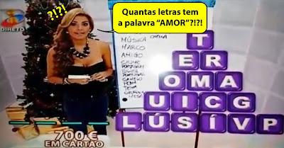 Gafe no «Ora Acerta» da TVI com o número de letras de AMOR