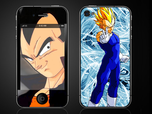 dragonball vegeta iphone 4 g vinyl skin decal sticker