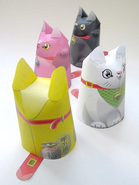 Maneki Neko Paper Toy