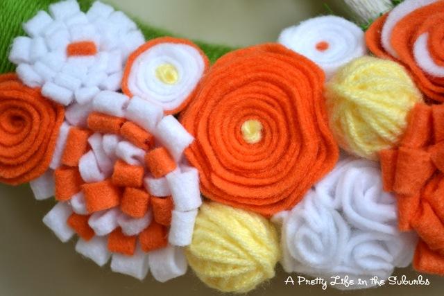 Springtime Yarn Wreath