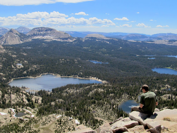 Chris enjoying the view from Mt. Watson summit