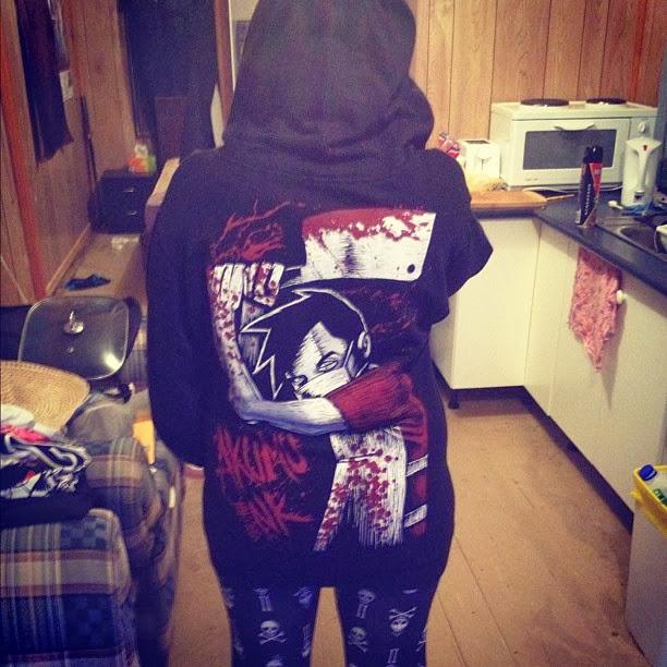 black hoodie, butcher hoodie, butcher tshirt, evil chef, akumu ink, bloody clever, blood tshirt, emo hoodie, goth hoodie,