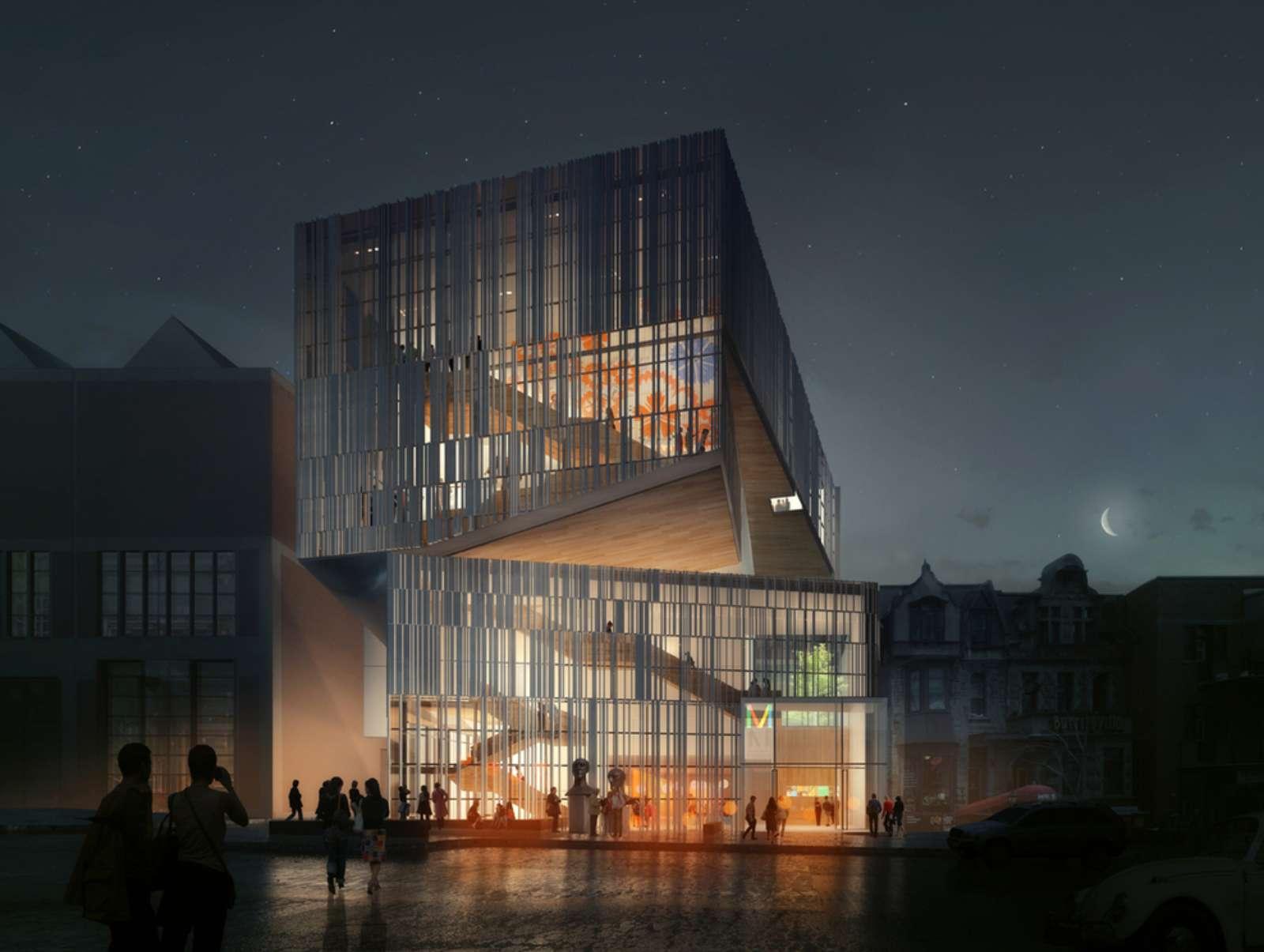 Montréal, Québec, Canada: Future Pavilion of Mbam by Manon Asselin And Jodoin Lamarre Pratte Architects