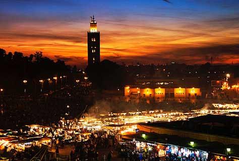 Marrakech en Navidad