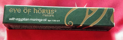A picture of the box of Eye of Horus Mascara
