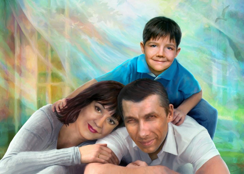 портреты на заказ, семейный портрет, компьютерное искусство, art