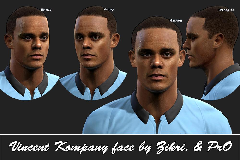 Vincent Kompany Face - PES 2013