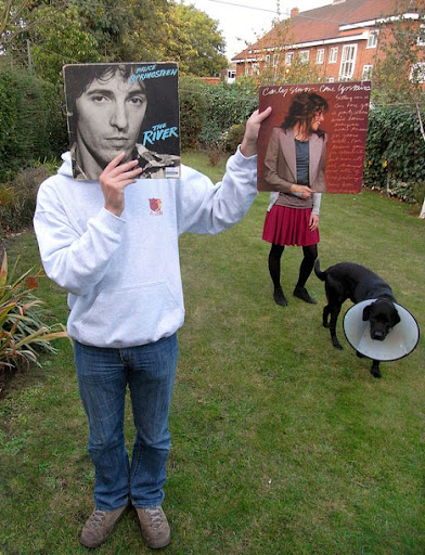 Springsteen + Carly Simon sleeveface